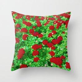 Geraniumz Throw Pillow