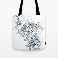 Broken and pixels  Tote Bag