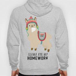Llama ate my homework Hoody
