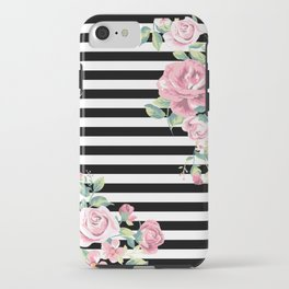 Floral Stripes iPhone Case