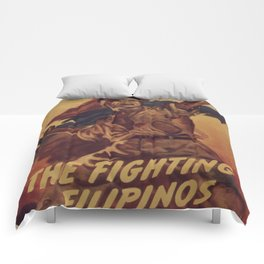 Vintage poster - The Fighting Filipinos Comforters