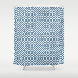 Geometric seamless blue islamic pattern Shower Curtain