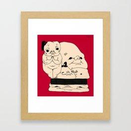 A Bundle of Pleasant Boys Framed Art Print