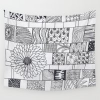calendar Wall Tapestries featuring Bloom Calendar by sinonelineman