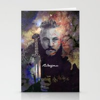 vikings Stationery Cards featuring Ragnar in the Stars - Vikings by RsDesigns