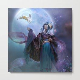 Moon Goddess Chang'e Metal Print
