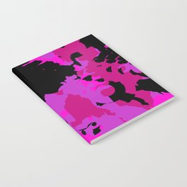 Fuchsia and black abstract Notebook