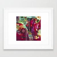 "flora bowley Framed Art Prints featuring ""True Nature"" Original Painting by Flora Bowley by Flora Bowley"