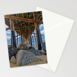 The Rocks Under Newport Pier Stationery Cards