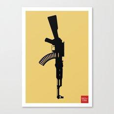 Art Not War - Yellow Canvas Print