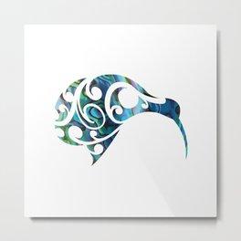 Kiwi Paua Metal Print