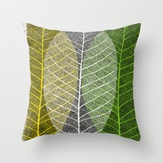'Natural Dry Leaves' Throw Pillow