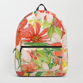Summer Flowers Collage Backpack
