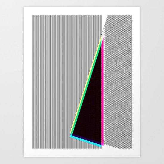 Black Line No.2 Art Print