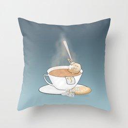 tea break Throw Pillow