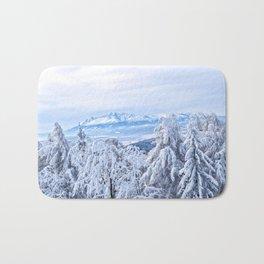 White out #mountains #winter Bath Mat