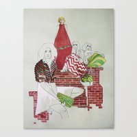 moscow Canvas Prints featuring Moscow by Xenia Ericovna
