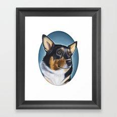 Tri Color Corgi Framed Art Print