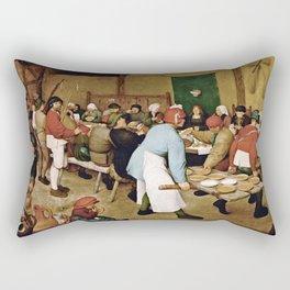 Pieter Bruegel The Elder - Peasant Wedding Rectangular Pillow