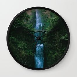Waterfall Landscape (Color) Wall Clock