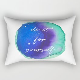 Do it for yourself - Watercolor Collection Rectangular Pillow