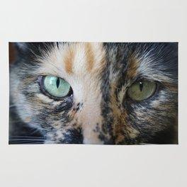 Cat Eyes: Tortoiseshell cat named Iris (2) Rug