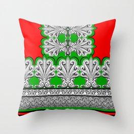 Holiday Frett Panel Print Throw Pillow