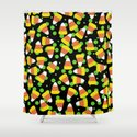 Candy Corn Jumble (black background) by lisaargyropoulos