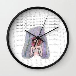 Bare Perception Wall Clock