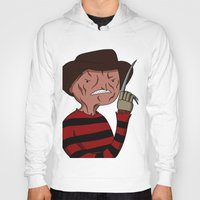 freddy krueger Hoodies featuring Adventure Time with Freddy Krueger by Tinsel Pencil
