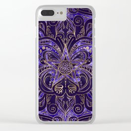 Pentagram Ornament Butterfly and Triskele Clear iPhone Case