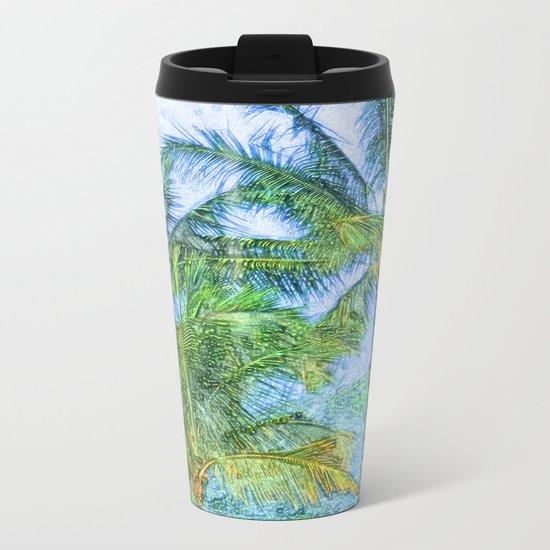 Coconut tree Metal Travel Mug