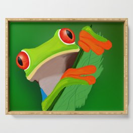 Red-eyed tree frog Serving Tray