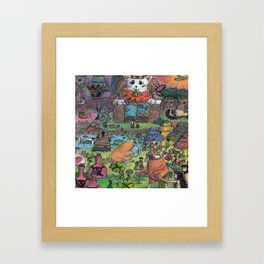 kingdom cat Framed Art Print
