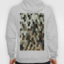 Honeycomb Pattern In Neutral Earth Tones Hoody
