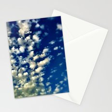A bunch of clouds in the sky. Stationery Cards