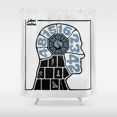 Push The Button Shower Curtain