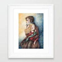 les miserables Framed Art Prints featuring les miserables by Fabiana Attanasio