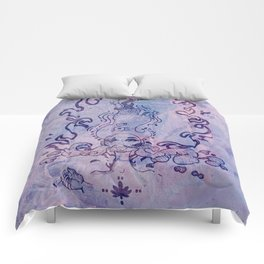 The Flame (Purple Texture) Comforters