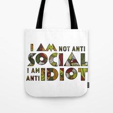 Social Sarcastic Typography Design Tote Bag