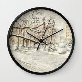 Walk in Winter Park Wall Clock
