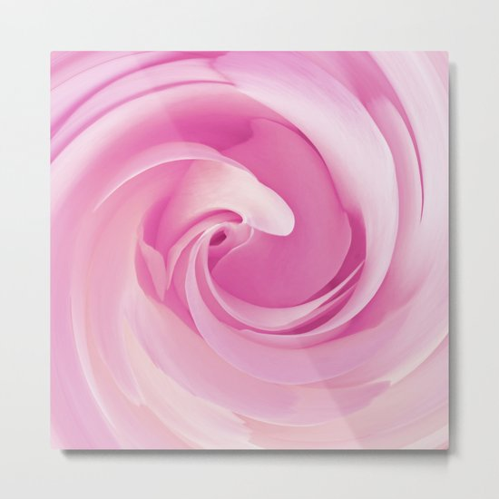 Pure Pink Rose Metal Print