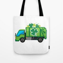 Clover Truck St Patricks Day Full Green Shamrock Tote Bag