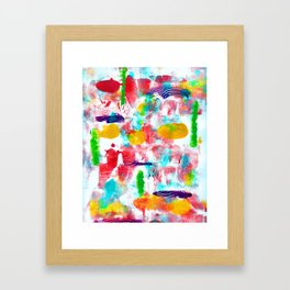 Colourful Abstract Framed Art Print
