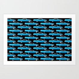 1960 Cadillac Coupe De Ville Art Print