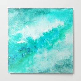 SEA GREEN GALAXY Metal Print