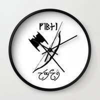 legolas Wall Clocks featuring Legolas and Gimli by Selis Starlight
