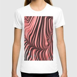 Pink and Gray 3D Fractal T-shirt