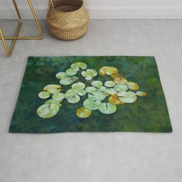 Tranquil lily pond Rug
