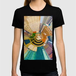 Downtown Kansas City Tiny Planet T-shirt